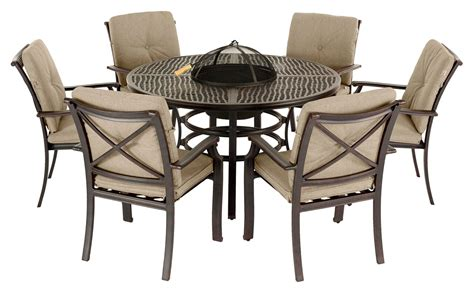 table 6 chaises oliver 6 seater grilling garden furniture set