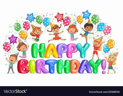 Birthday Happy Letters Vector Vectorstock Pretty Gift