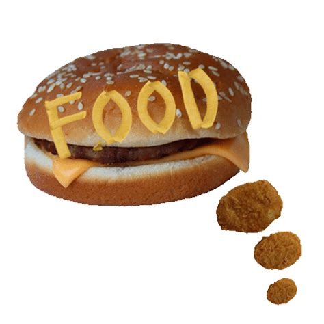 Chicken Nuggets Hamburger Sticker By Shaking Food GIF for ...