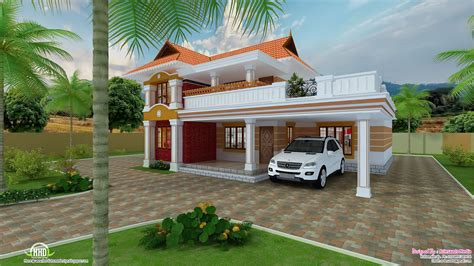 Beautiful Home Model Plans by 2700 Sq Beautiful Villa Design Kerala Home