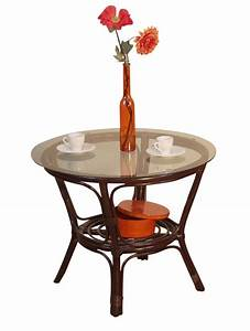 Tisch Rund 90 Cm : beeindruckend rattantisch rund esstische esszimmer mit glasplatte rattan tisch schwarz ~ Indierocktalk.com Haus und Dekorationen