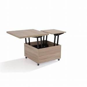Table Basse Multifonction : table basse convertible extensible ~ Premium-room.com Idées de Décoration