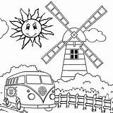 Coloring Pages Summer Preschool Camping Pool Swimming Printable Print Crafts Holiday Wild Happy Weather Sun Things Preschoolers Kindergarten Windmill Vw sketch template