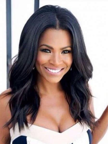 medium layered haircuts  african american women