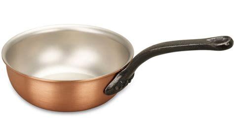 classical range cm copper saucier pan falk copper cookware
