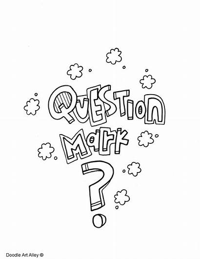 Coloring Mark Punctuation Question Pages Printable Getcolorings