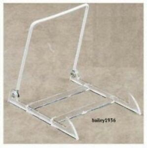 large clear acrylic adjustable plate bowl tile book display stand   ebay