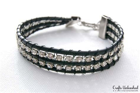 Leather Bracelet With Rhinestone Chain Tutorial Jewelry Design Games Online Ebay Scams Eclectic Bling Nipple Piercing For Cheap Jared The Galleria Of Appleton Wi Jewellery Apk Haul Wings