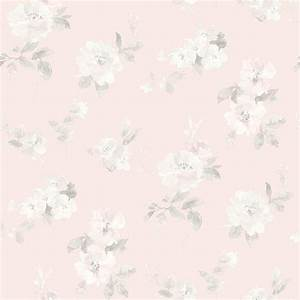 Chesapeake Captiva Light Pink Floral Toss Wallpaper Sample ...