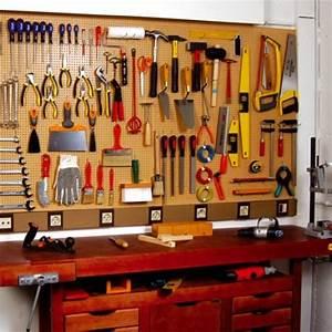 Rangement Outils Garage : rangement des outils pose d 39 un panneau d 39 atelier ~ Melissatoandfro.com Idées de Décoration
