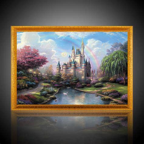 Digital Oil Painting Castle Diy Oil Painting By Numbers