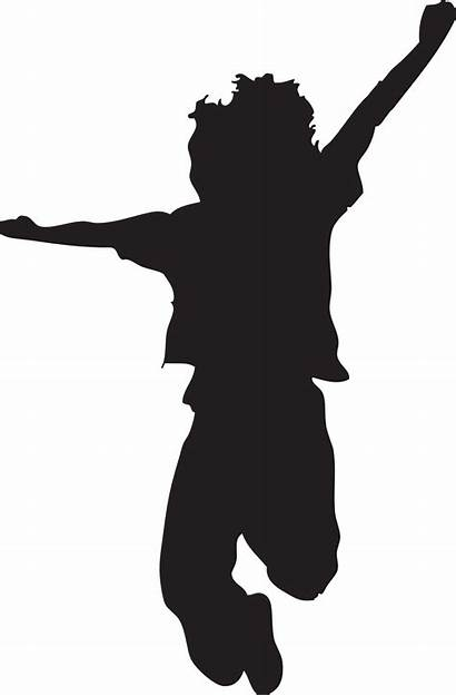 Silhouette Jumping Clip Clipart Kid Painting Happy