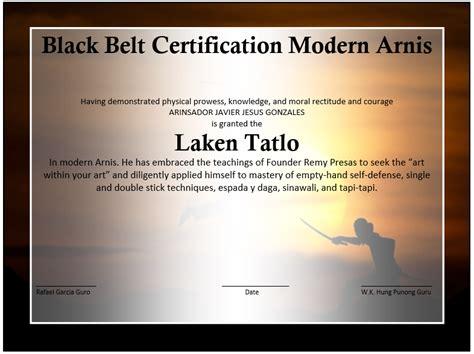 martial arts event winner certificate template