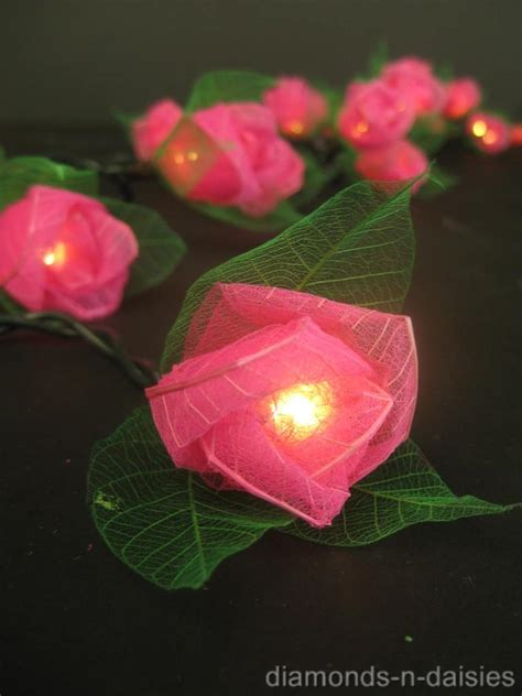 20 mini flower battery operated string led