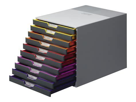 classement bureau durable varicolor 10 bloc de classement à tiroirs