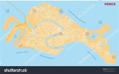 venice street map stock vector illustration