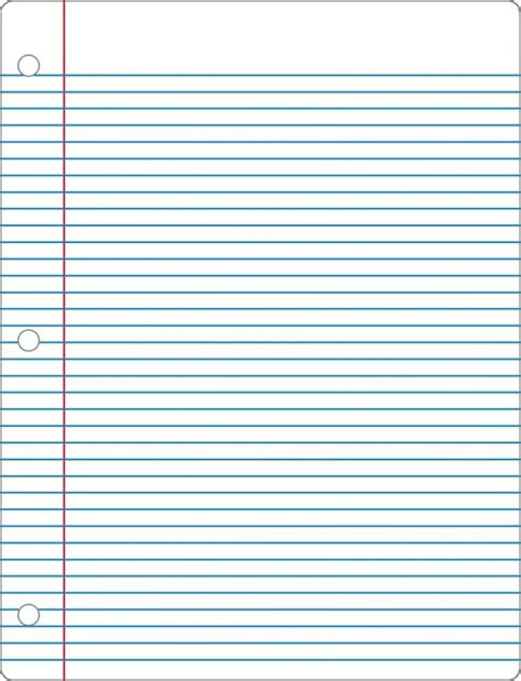 Notebook Paper Template Free Printable Notebook Paper College Wide Ruled
