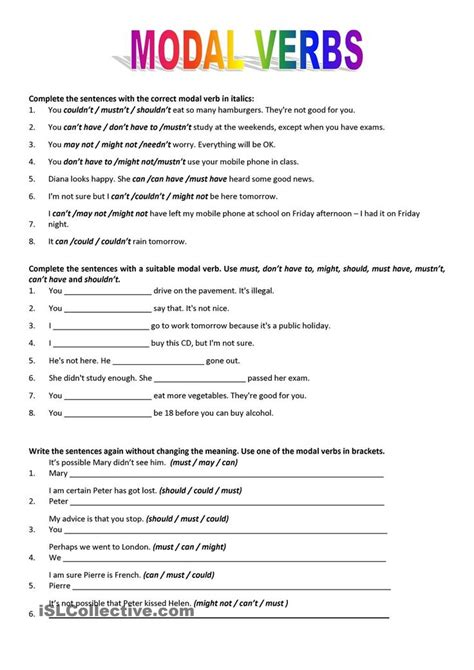 modal verbs worksheet free worksheets library