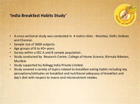 India Breakfast Habits Study (21-08-13