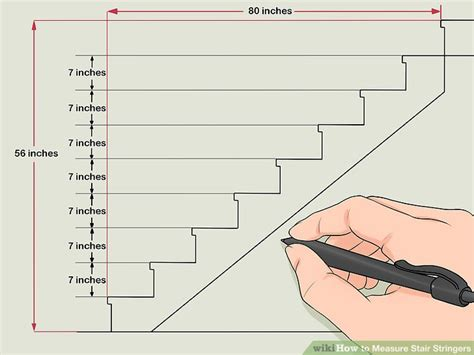 measure stair stringers  steps  pictures