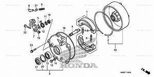 Honda Atv 2007 Oem Parts Diagram For Rear Brake Drum