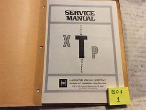 Hammond Organ Technical Service Manual Xtp Guide Original