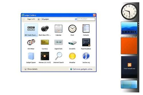 window xp sidebar gadgets free download