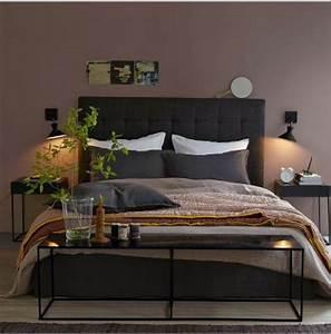 chambre couleur murs taupe avec literie couleur chocolat With couleur peinture mur chambre