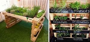 jardiniere avec des palettes cobtsacom With idee pour jardin exterieur 3 les palettes reinventent le mobilier de jardin