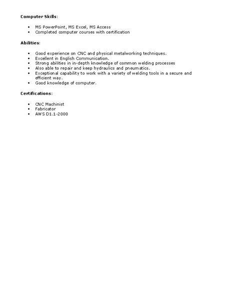 FRESH JOBS AND FREE RESUME SAMPLES FOR JOBS: Resume format for welder
