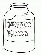 Peanut Coloring Butter Pages Printable Template Peanuts Jar Gang Food Popular Sketch Getdrawings sketch template