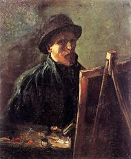 Vincent Van Gogh Self Portrait at Easel