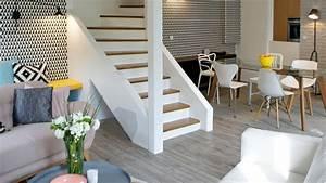 Decoration salon architecte for Deco cuisine avec chaise chene clair salle a manger