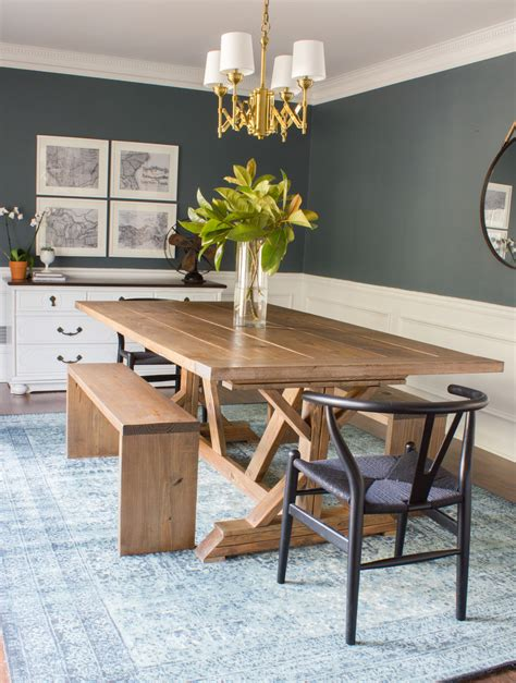 modern farmhouse dining table benches erin spain