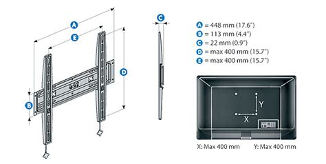 meliconi s 400 support mural fixe stile pour tv led lcd plasma 40 224 50 quot fr tv vid 233 o