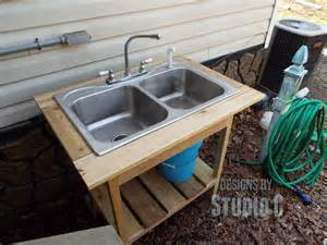 install outdoor sink faucet angle
