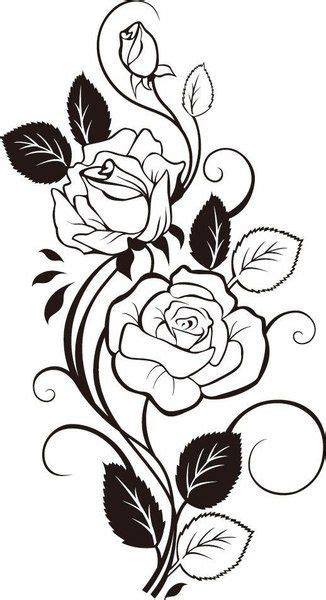 rose vine drawing vector art dxf file   axisco