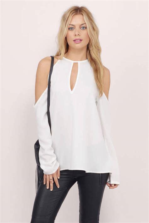 cold shoulder blouses corinna cold shoulder blouse 40 00 tobi