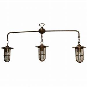 Industrial style rustic suspended ceiling pendant with