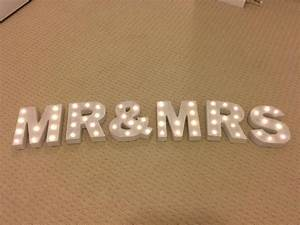 mr mrs small marquee letters light up letters rental With small light up marquee letters