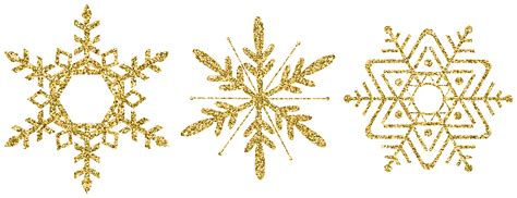 Transparent Background Gold Snowflake Png by Gold Decorative Snowflake Set Clip Image Gallery