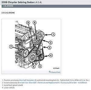 2004 Chrysler Sebring 24 Serpentine Belt Diagram