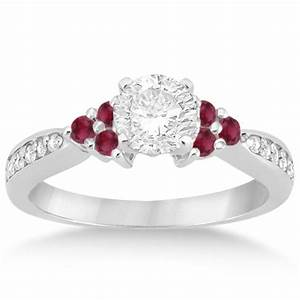 floral diamond and ruby engagement ring setting 14k white With wedding rings with rubies and diamonds