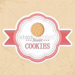 sweet cookies label vector image 1442944 stockunlimited With cookies label template