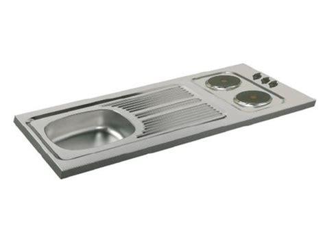 plaque electrique cuisine evier cuisinette à poser avec plaque de cuisson intégrée