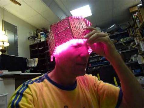 LED helmet for dementia - YouTube