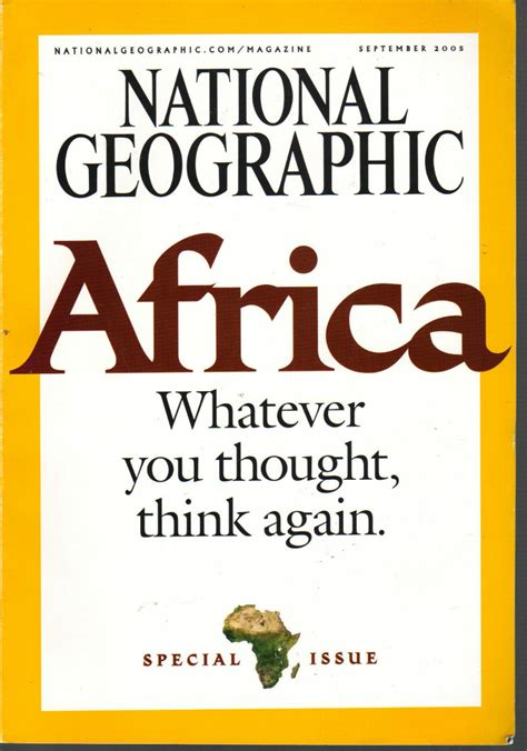 National Geographic Septemeber 2005africa Special Issue