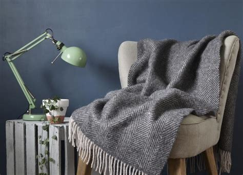 Charcoal And Silver Grey Armchair Throw