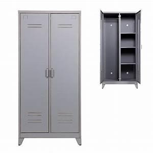 Outdoor Schrank Metall : kleiderschrank spind max 2 t rig metall grau ~ Michelbontemps.com Haus und Dekorationen