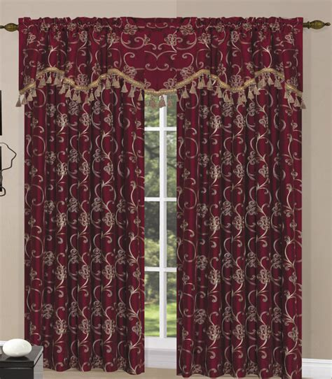 megan curtain panels burgundy luxury home textiles curtains